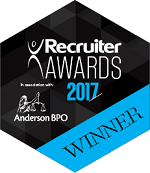 Recruiter Awards 2017 Winner