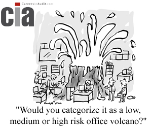 Audit Cartoon - Office Volcano